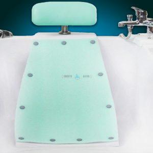Bathtub headrest backrest - available accessories for SENSATION baths [backrest front view]