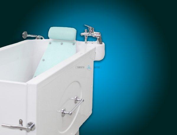 Bathtub headrest backrest - available accessories for SENSATION baths [side view]