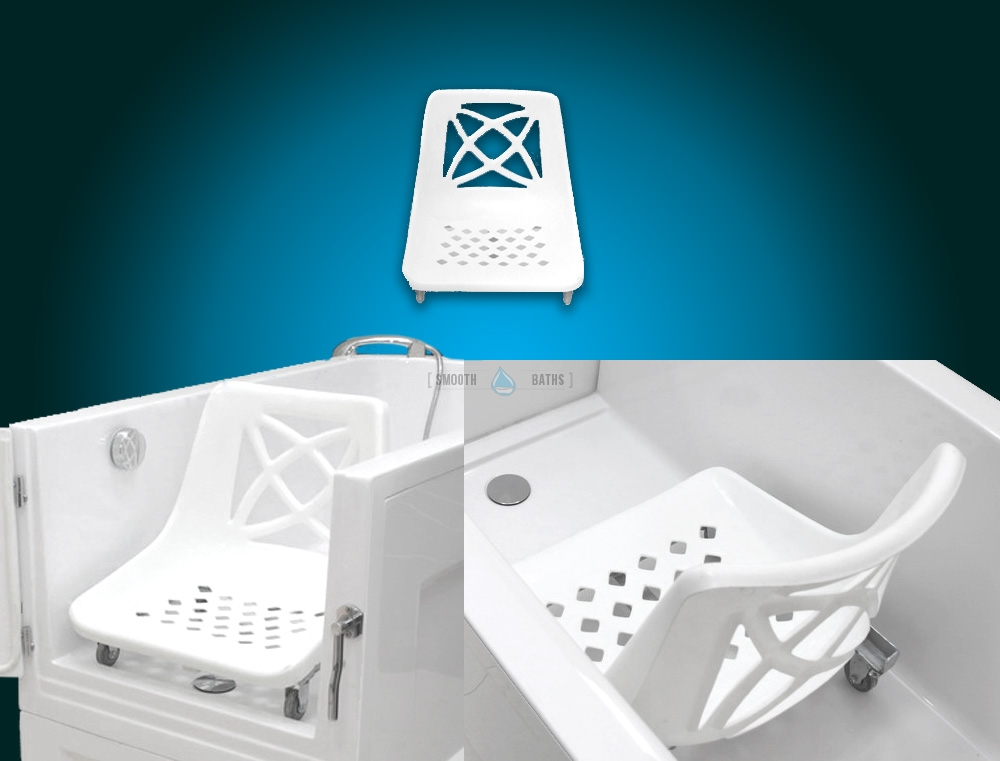 Movable Bath Chair - available accessories for SENSATION baths [combine view]