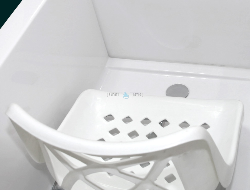 Movable Bath Chair - available accessories for SENSATION baths [inside view]