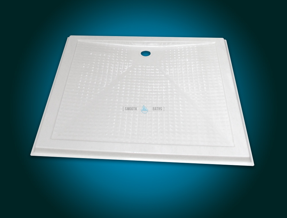 Square shower tray - COMFORT series [front view]