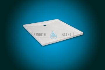 Square shower tray - COMFORT series [side view]