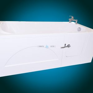 IMPRESSION - walk-in bath for multigenerational family [front side view - right-hand side model with faucet]
