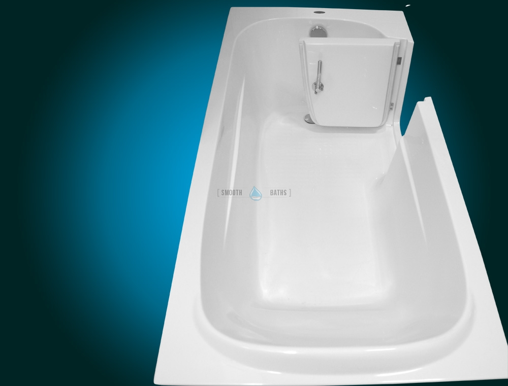 IMPRESSION - walk-in bathtub for multigenerational family [right-hand side model upper view]