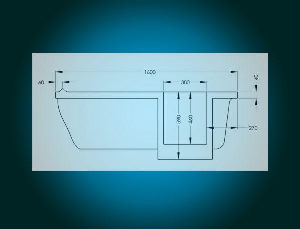 IMPRESSION - walk-in tub [technical sketch]