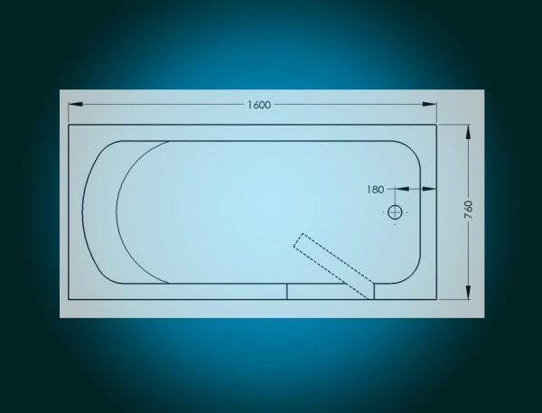 IMPRESSION - walk-in tub [view - technical sketch]