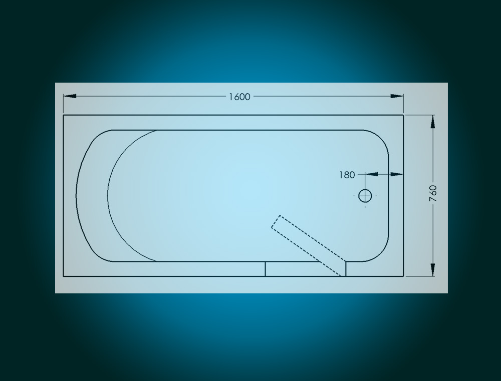 IMPRESSION - walk-in tub [view - technical sketch]