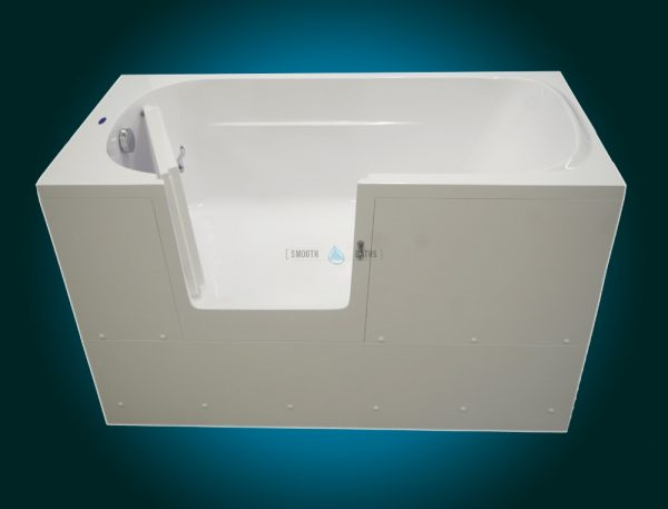 IMPRESSION - walk-in bathtub with wider door [front view - door open]