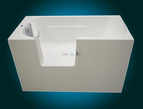 IMPRESSION - walk-in bathtub with wider door [front view - door open]