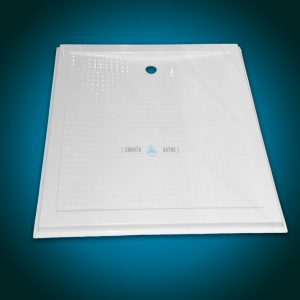 Rectangular level entry shower tray - COMFORT series [front view]