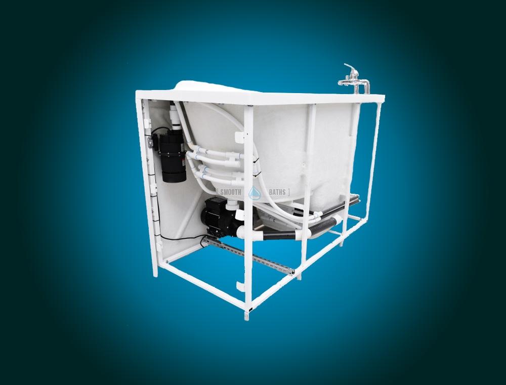 ELEGANCE PLUS - premium walk-in bathtub [backside view]