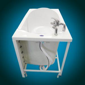 ELEGANCE PLUS - premium walk-in bathtub [back view without panel]