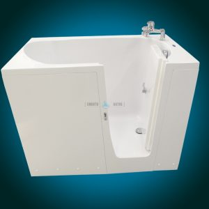 ELEGANCE PLUS - premium walk-in bathtub [front view with faucet]