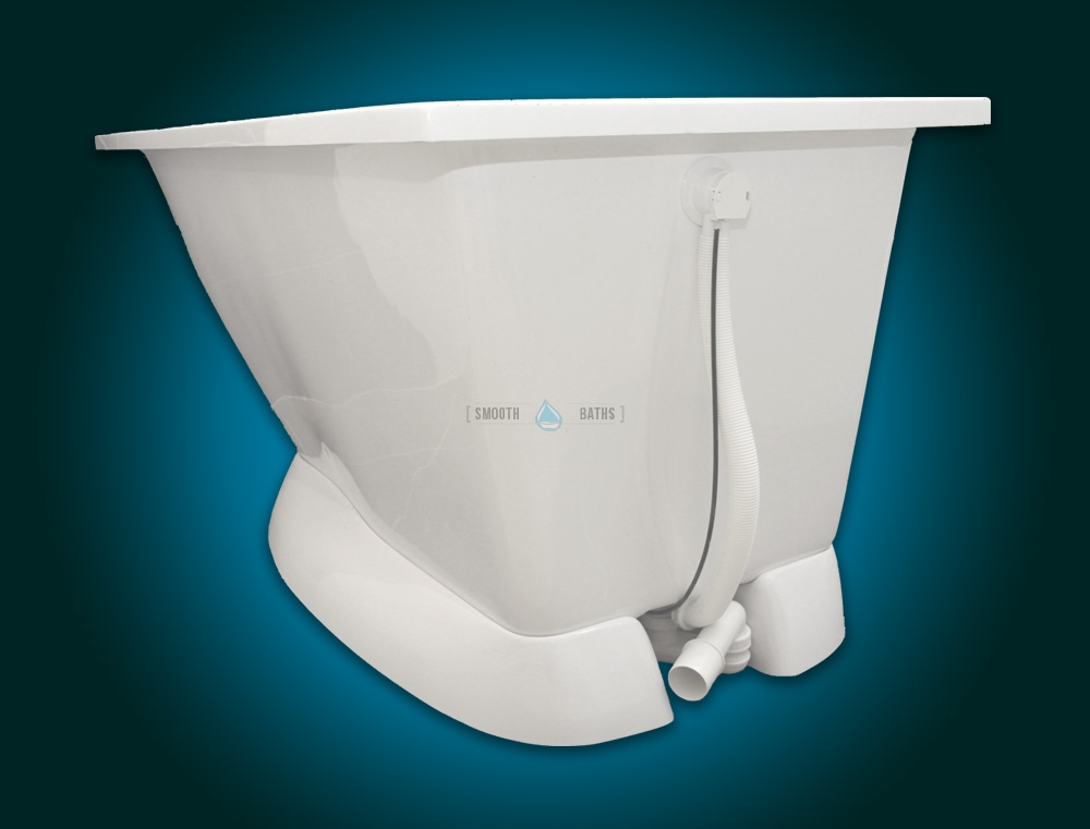 MODERN - small freestanding walk-in bath with seat [back -side view]