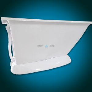 MODERN - small freestanding walk-in bath with seat [backside view]
