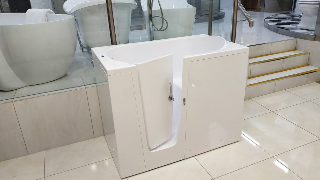ELEGANCE -freestanding walk-in bath (Ireland, Dublin) - Showroom in Swords - SMOOTH BATHS