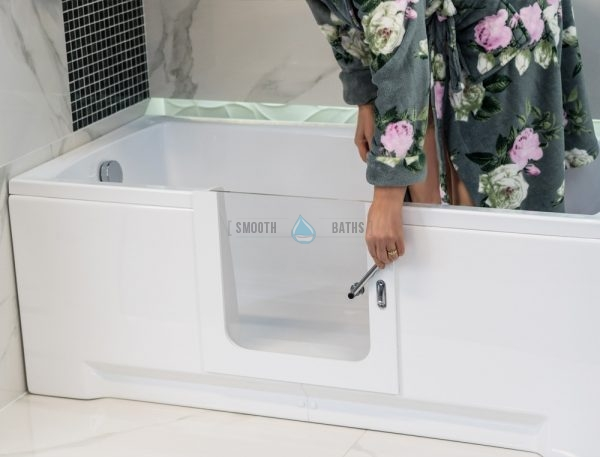 PERFECTION - walk-in bathtub model with glass door (now available online from SMOOTH BATHS, Dublin, Ireland)