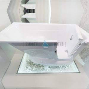 MODERN - walk-in bath with built-in seat for your bathroom [showroom display]