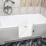 PERFECTION - walk-in bathtub with glass door [customer bathroom setup]
