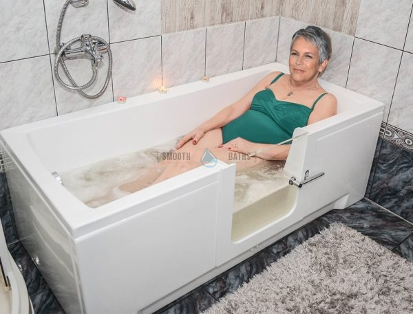 PERFECTION - walk-in bathtub with glass door available online from SMOOTH BATHS [customer promo]